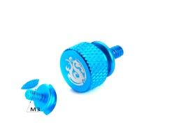 Bitspower Logo Aluminum Thumb Screw For M3 (Blue)