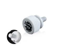 Bitspower Logo Aluminum Thumb Screw For M3 (White)