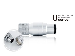"""Bitspower Silver Shining Quick-Disconnected Male With Rotary Compression Fitting CC3 Ultimate For ID 3/8"""" OD 5/8"""" Tube"""