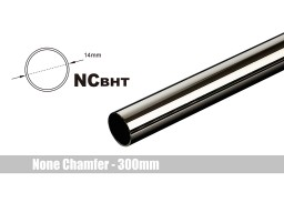 Bitspower None Chamfer Brass Hard Tubing OD14MM Black Sparkle - Length 300 MM