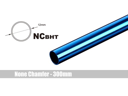 Bitspower None Chamfer Brass Hard Tubing OD12MM Royal Blue- Length 300 MM