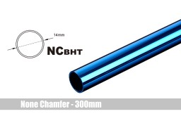 Bitspower None Chamfer Brass Hard Tubing OD14MM Royal Blue- Length 300 MM