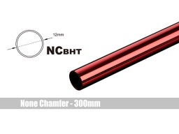 Bitspower None Chamfer Brass Hard Tubing OD12MM Deep Red - Length 300 MM