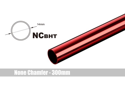 Bitspower None Chamfer Brass Hard Tubing OD14MM Deep Red - Length 300 MM