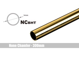 Bitspower None Chamfer Brass Hard Tubing OD14MM Golden - Length 300 MM