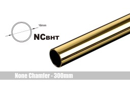 Bitspower None Chamfer Brass Hard Tubing OD16MM Golden - Length 300 MM