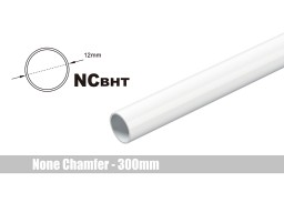 Bitspower None Chamfer Brass Hard Tubing OD12MM Deluxe White - Length 300 MM