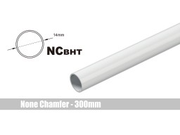 Bitspower None Chamfer Brass Hard Tubing OD14MM Deluxe White - Length 300 MM