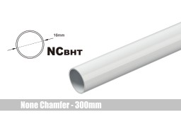 Bitspower None Chamfer Brass Hard Tubing OD16MM Deluxe White - Length 300 MM