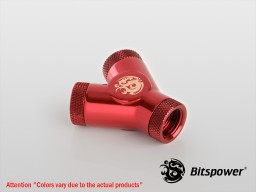 "Deep Blood Red Y-Block With Triple Rotary IG1/4""(Silver Dragon)"