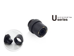 "Bitspower G1/4"" Carbon Black Compression Fitting  CC1 Ultimate For ID 1/4"" OD 3/8"" Tube"