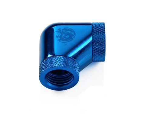 Bitspower Royal Blue 90-Degree With Dual Rotary Inner G1/4