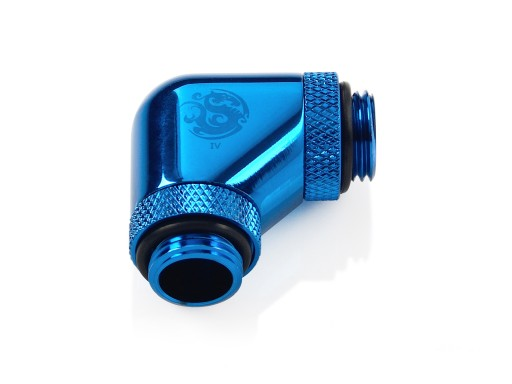 Bitspower Royal Blue 90-Degree With Dual Rotary G1/4