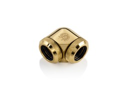 Bitspower True Brass Enhance 90-Degree Dual Multi-Link Adapter For OD 14MM
