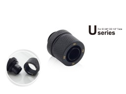"Bitspower G1/4"" Carbon Black Compression Fitting CC2 Ultimate For ID 3/8"" OD 1/2"" Tube"