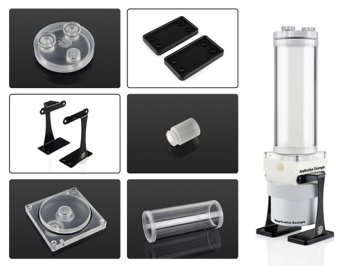 Bitspower Dual/Single D5 Top Upgrade Kit 150 Limited Edition Acrylic-Clear