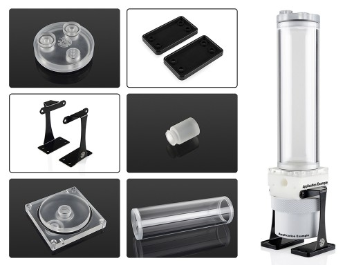 Bitspower Dual/Single D5 Top Upgrade Kit 200 Limited Edition Acrylic-Clear
