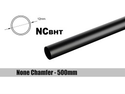 Bitspower None Chamfer Brass Hard Tubing OD12MM  Carbon Black - Length 500 MM