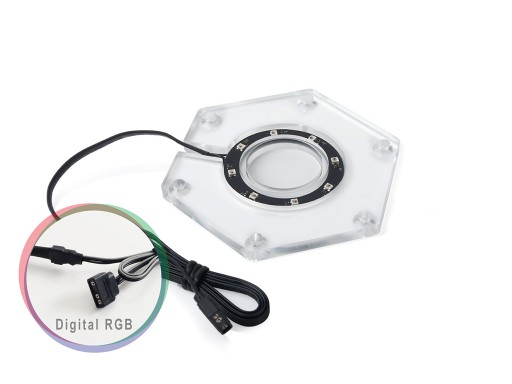 Bitspower Water Tank Hexagon Digital RGB Add-On