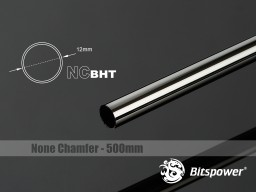 Bitspower None Chamfer Brass Hard Tubing OD12MM Black Sparkle- Length 500 MM