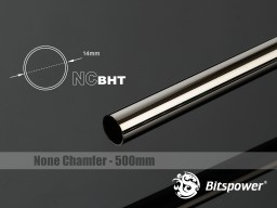 Bitspower None Chamfer Brass Hard Tubing OD14MM Black Sparkle - Length 500 MM