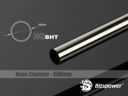 Bitspower None Chamfer Brass Hard Tubing OD16MM Black Sparkle - Length 500 MM