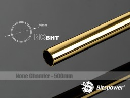 Bitspower None Chamfer Brass Hard Tubing OD16MM Golden - Length 500 MM