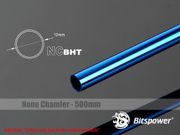 Bitspower None Chamfer Brass Hard Tubing OD12MM Royal Blue- Length 500 MM