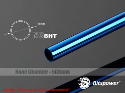 Bitspower None Chamfer Brass Hard Tubing OD14MM Royal Blue- Length 500 MM
