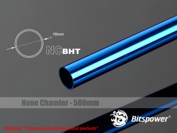 Bitspower None Chamfer Brass Hard Tubing OD16MM Royal Blue- Length 500 MM