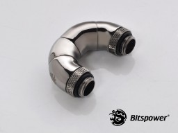 "Black Sparkle Five Rotary Snake-Style Dual G1/4"" Adapter"