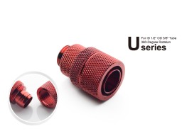 """Bitspower G1/4"""" Deep Blood Red Rotary Compression Fitting CC4 Ultimate For ID 1/2"""" OD 5/8"""" Tube"""