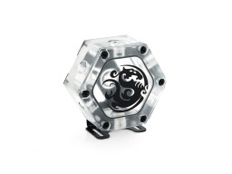 Bitspower Water Tank Hexagon 34 With Bracket (Deluxe Version)