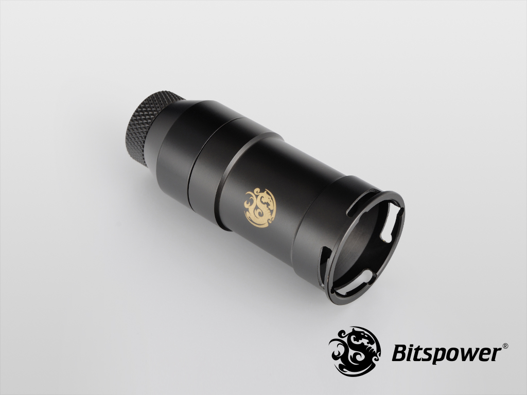 Bitspower Carbon Black Quick-Disconnected Female With Rotary IG1/4