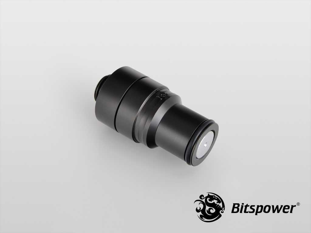 Bitspower Carbon Black Quick-Disconnected Male With G1/4