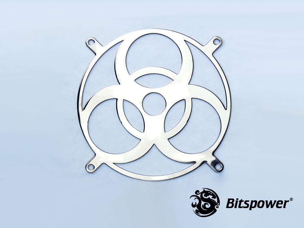 120 MM Stainless Fan Grill BIOHAZARD Mirror Type