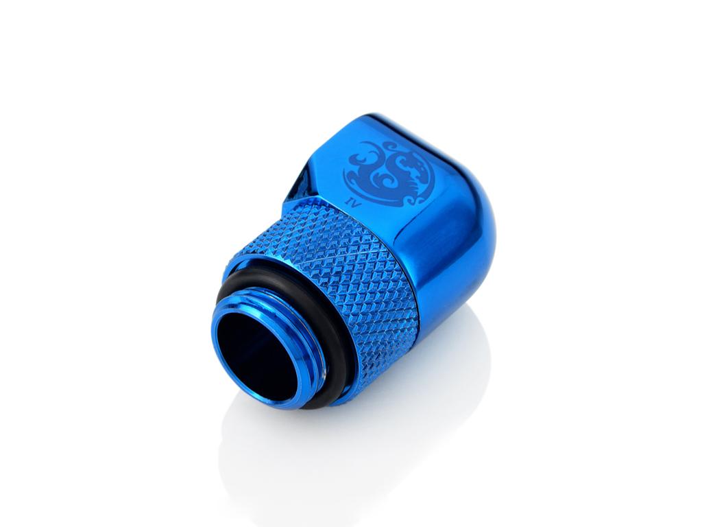 """Bitspower G1/4"""" Royal Blue Rotary 90-Degree IG1/4"""" Extender"""