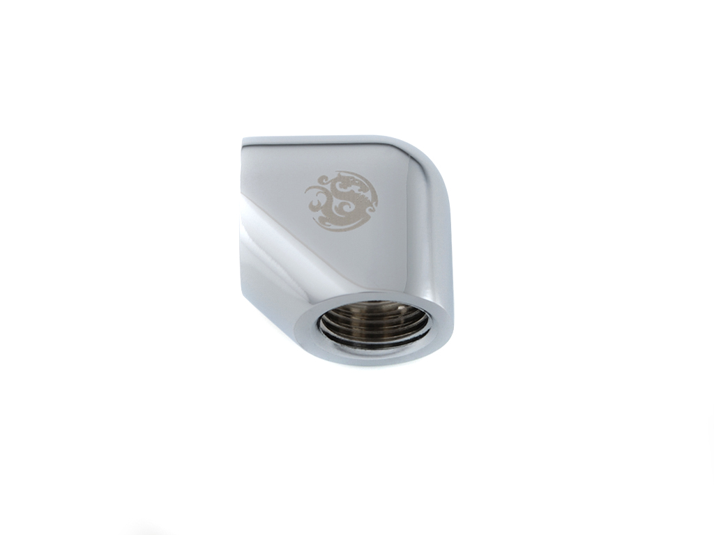Bitspower Silver Shining 90-Degree With Dual Inner G1/4
