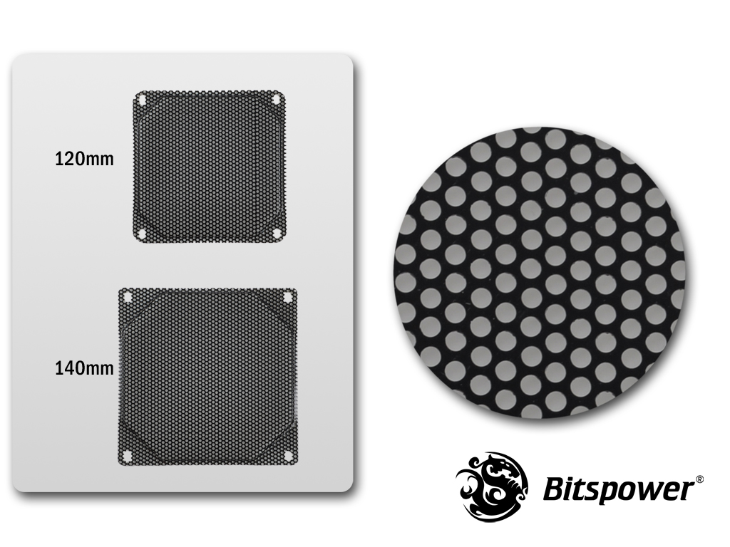 120MM Panel For Bitspower CUSTOM DESIGN RADGARD -MESH Design (Black)