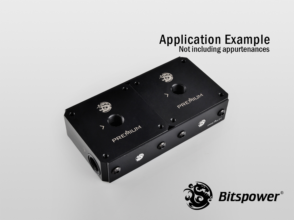 Bitspower Premium Lateral Plate Connection For Magic-Cube DDC TOP  (Panel 2)