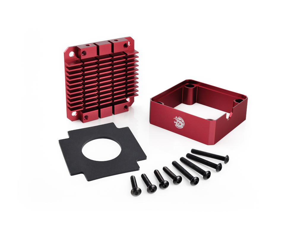 Bitspower Pump Cooler For DDC/MCP355 (Red)