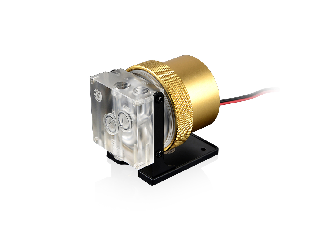 Bitspower D5 MOD Package (Clear Acrylic TOP S + MOD Kit V2 Golden)