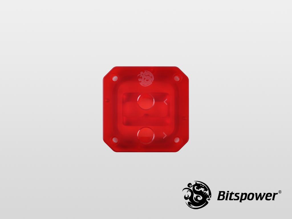 Bitspower CPU Block Summit EF Acrylic Top (ICE Red)