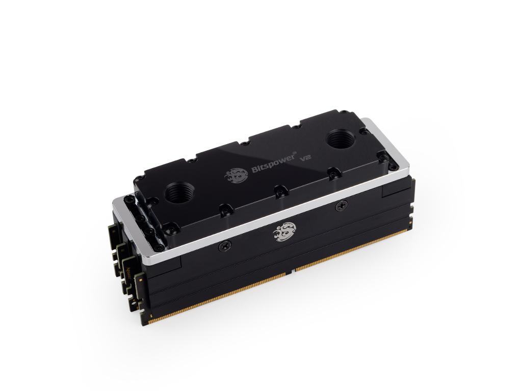 Bitspower Universal RAM Module Water Cooling Set For 4 Banks 4-DIMMs V2