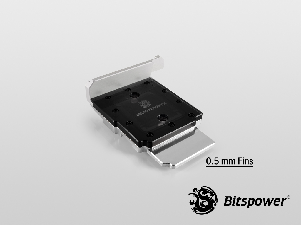 Bitspower AIZ87M6IITX Nickel Plated (ICE Black)
