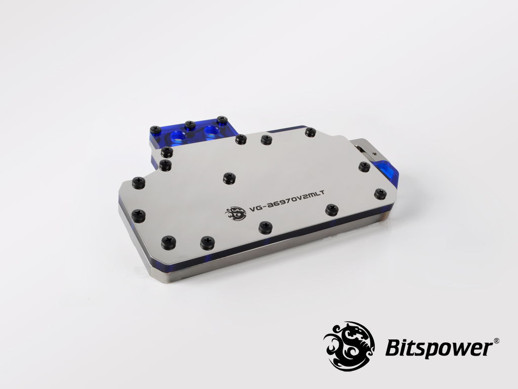 Bitspower VG- A6970V2MLT ICE Blue Acrylic Top With Stainless Panel
