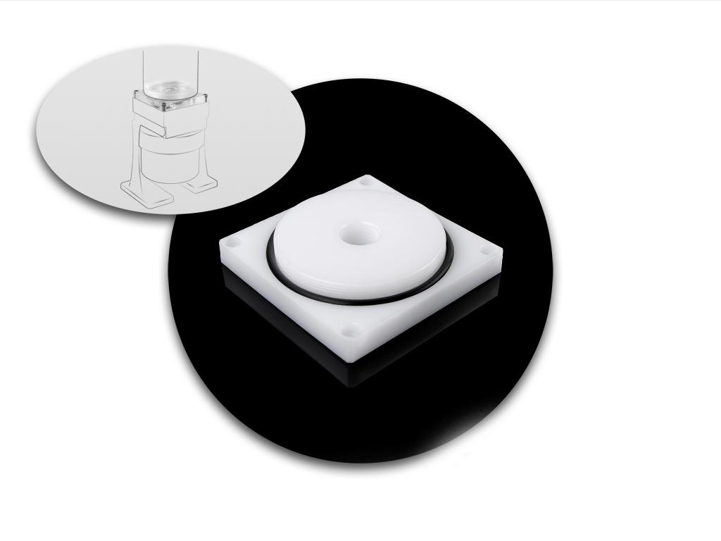 Bitspower Dual/Single D5 TOP Reservoir Adaptor (White POM)