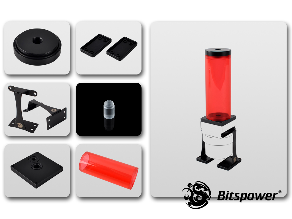 Dual/Single D5 Top Upgrade Kit 150 (ICE Red Tube+Black POM Cap)