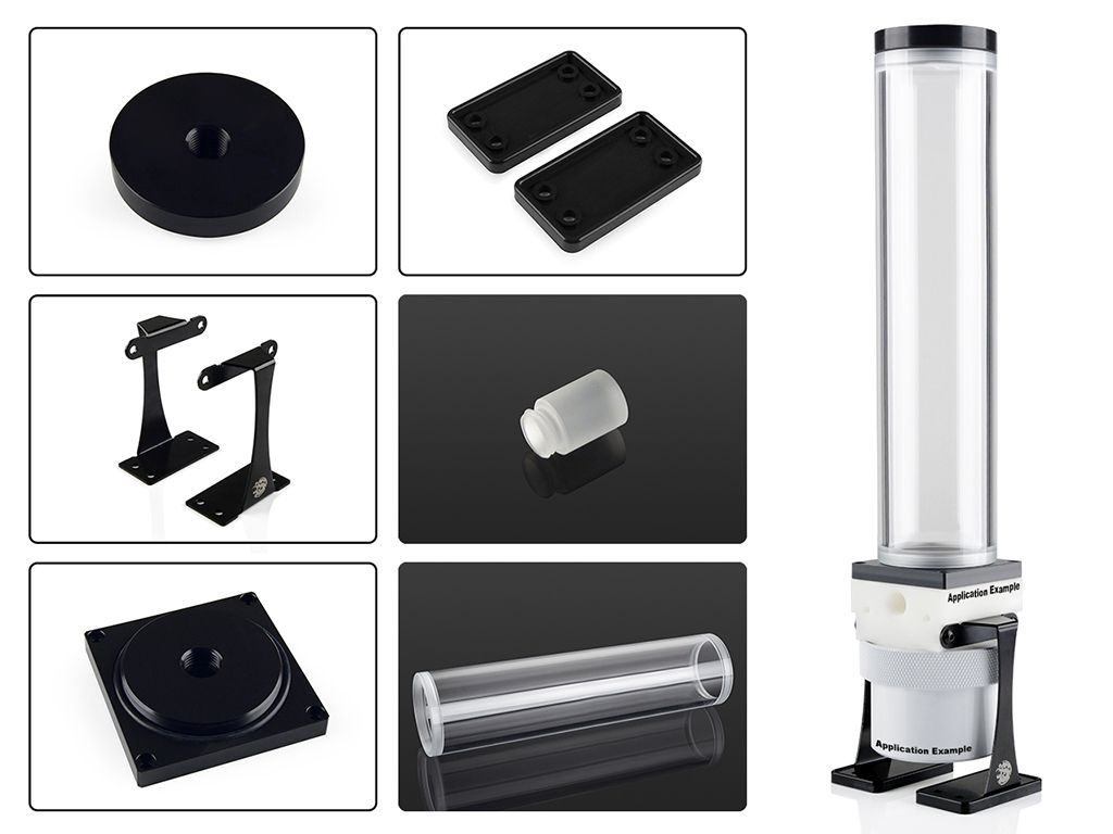 Dual/Single D5 Top Upgrade Kit 250 (Black POM Cap)