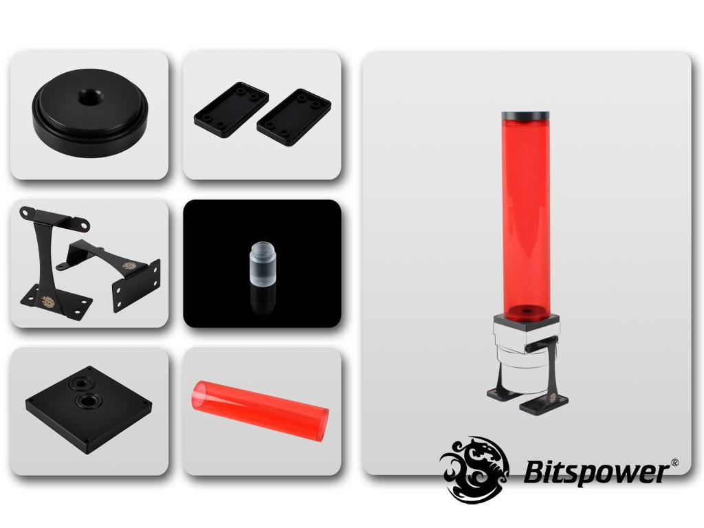 Dual/Single D5 Top Upgrade Kit 250 (ICE Red Tube+Black POM Cap)